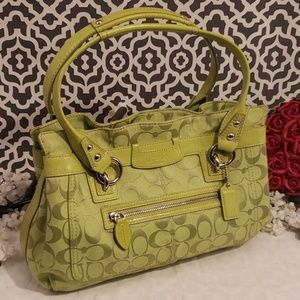 Coach lime green purse